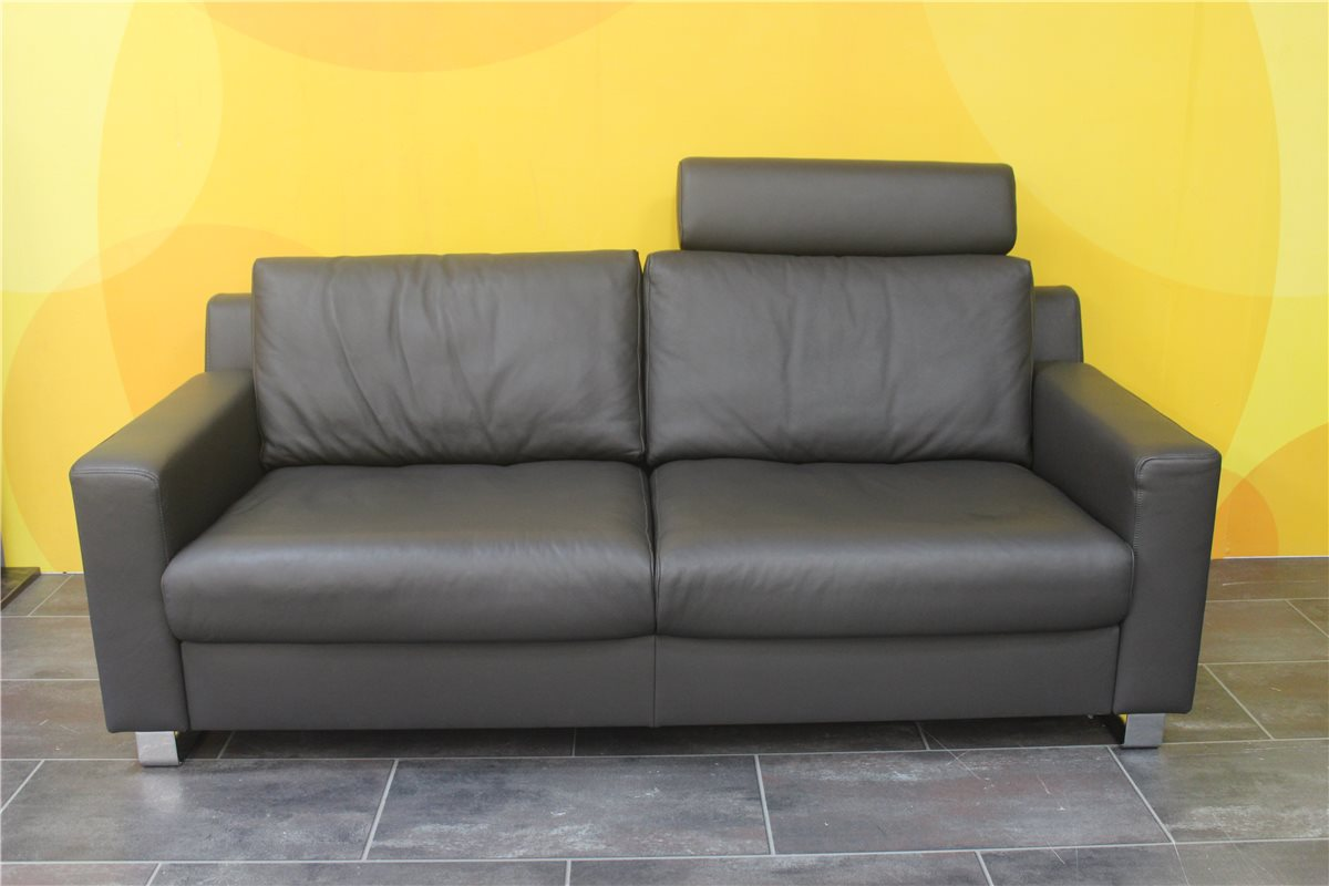 ewald schillig flexplus sofa 02m mit kopfst tze leder 140 63 anthrazit. Black Bedroom Furniture Sets. Home Design Ideas