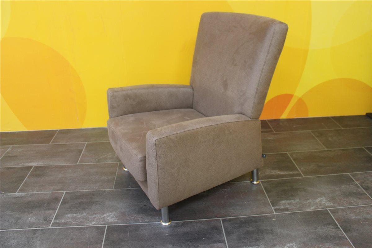 ewald schillig florenz sessel 490 mikrofaser 18536 85 hellbraun einzelst ebay. Black Bedroom Furniture Sets. Home Design Ideas