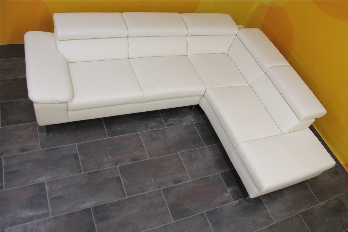 w schillig 20981 adamo ecke 2tlg leder z50 42 weiss nullserie ebay. Black Bedroom Furniture Sets. Home Design Ideas
