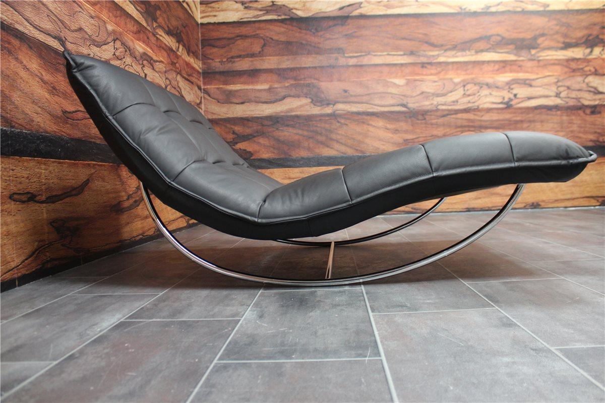 w schillig woow 10431 doppel liege mit schaukelfkt leder z 59 99 schwarz ebay. Black Bedroom Furniture Sets. Home Design Ideas