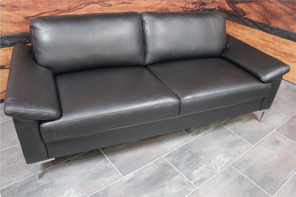 w schillig 22850 alexx sofa n80 leder z73 99 schwarz messest ck ebay. Black Bedroom Furniture Sets. Home Design Ideas