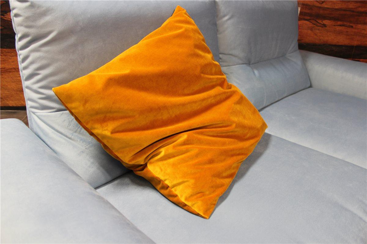 ewald schillig kissen 56 56 stoff samt gelb schn ppchen. Black Bedroom Furniture Sets. Home Design Ideas