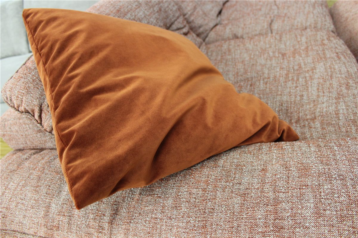 ewald schillig kissen 56 56 stoff samt rost schn ppchen. Black Bedroom Furniture Sets. Home Design Ideas