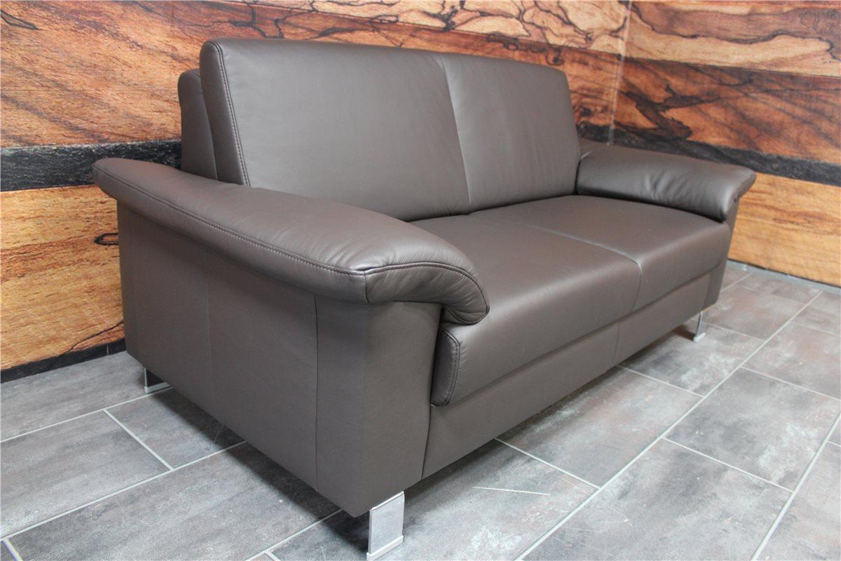 ewald schillig selectionplus sofa 02m05 leder 130 46 dunkelbraun mess ebay. Black Bedroom Furniture Sets. Home Design Ideas