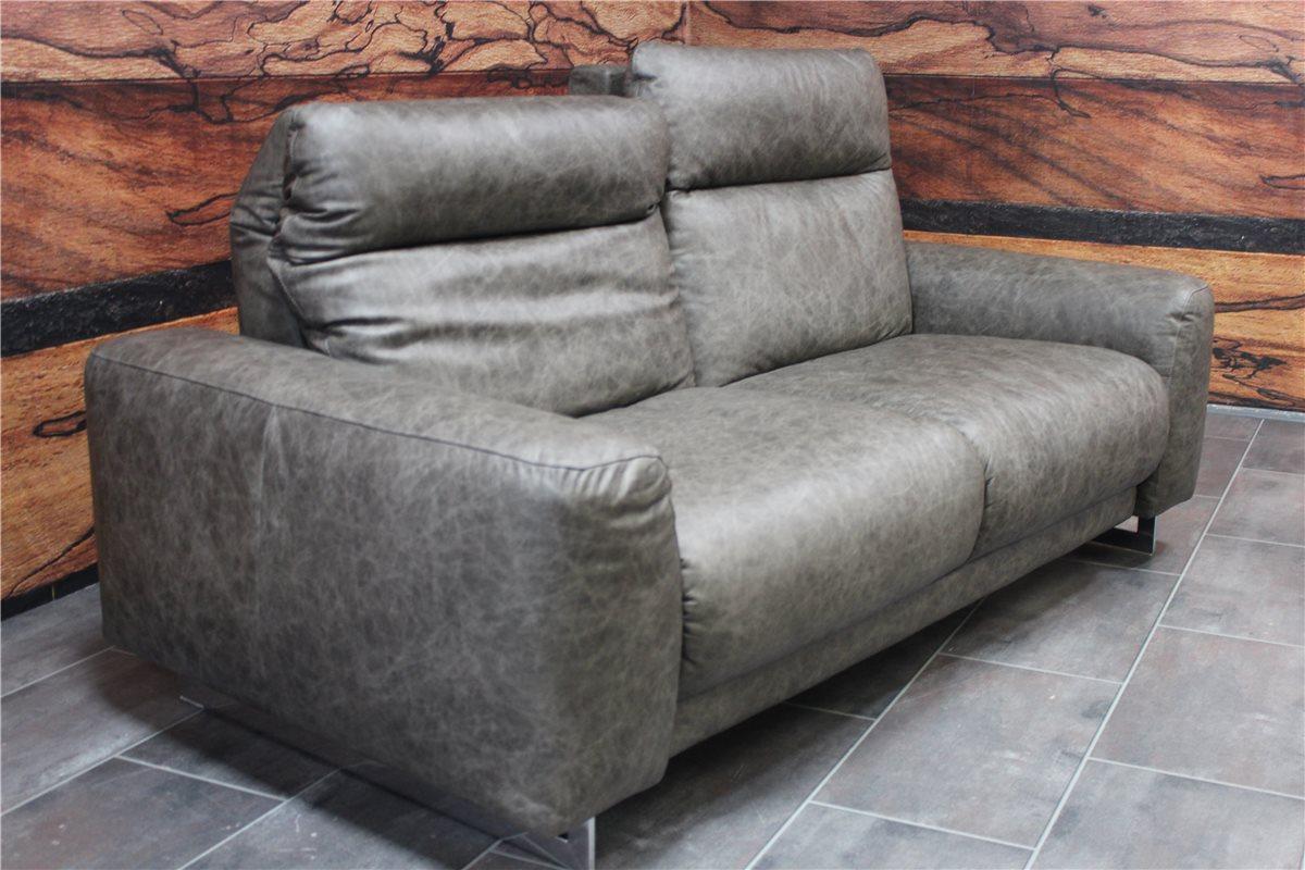 Ledersofa anthrazit  W Schillig Modell 33900 Sofa mit hohem Rücken Leder Z69 96 ...