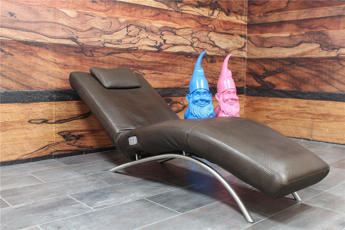 koinor joana liege elektisch mit r ckenkissen akku leder naturo dklbraun ebay. Black Bedroom Furniture Sets. Home Design Ideas