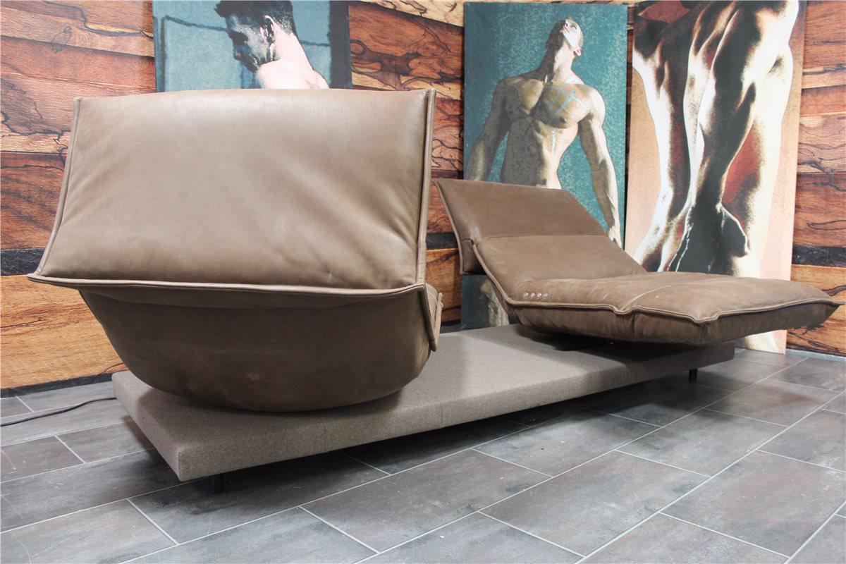koinor edit sofa c mit vollfunktionssitzen leder d back braun hausausst ebay. Black Bedroom Furniture Sets. Home Design Ideas